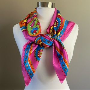 Tepper Jackson Groovy Paisley Print Silk Scarf